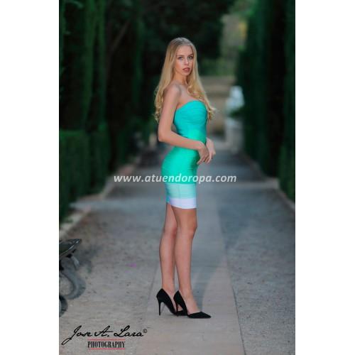 Vestido Fiesta Corto Mod: MBH7127V
