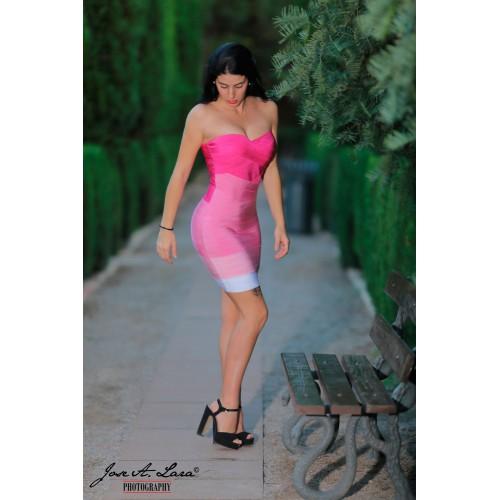 Vestido Fiesta Corto Mod: MBH7127R