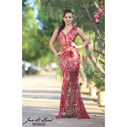 Vestido Fiesta Largo Mod: VL2018