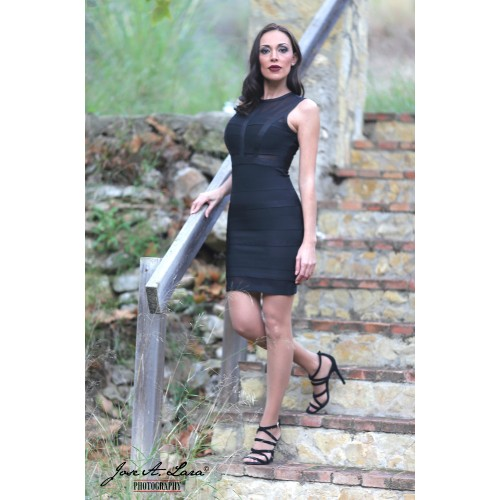 Vestido Fiesta Corto Mod: MBH7181