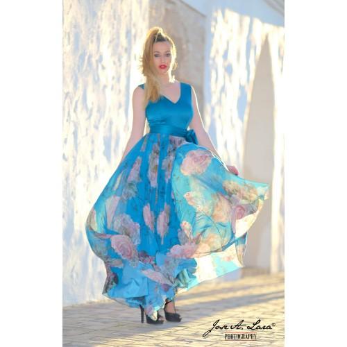 Vestido Fiesta Largo Mod: 9718