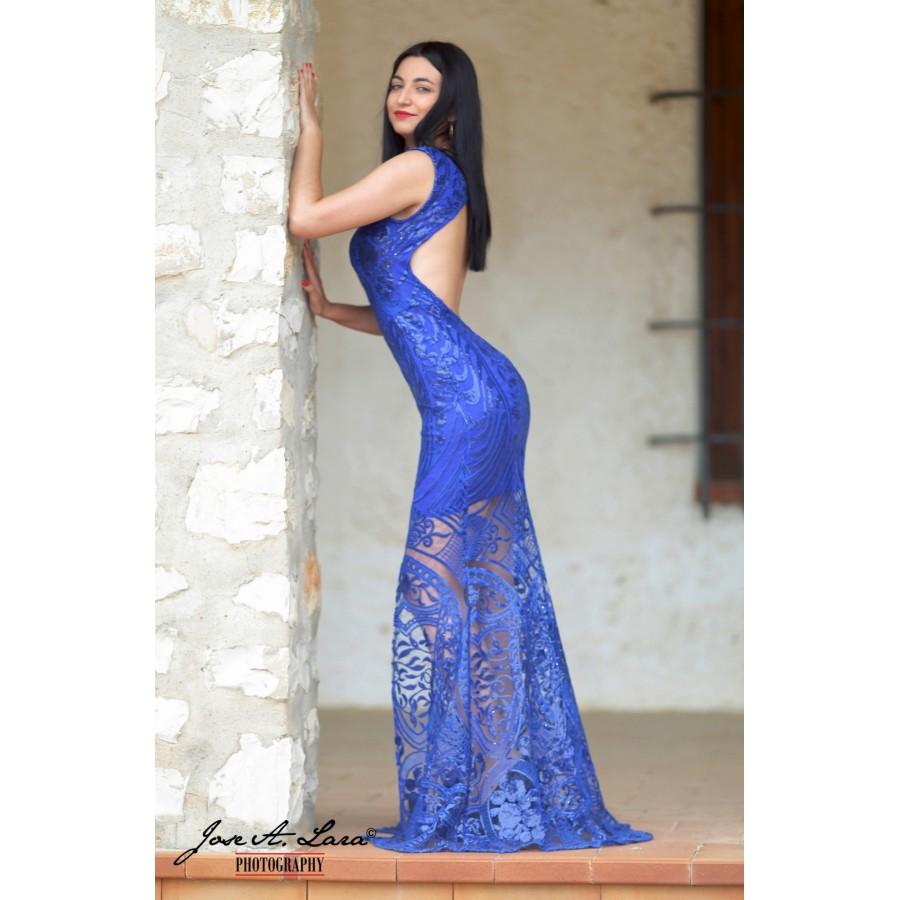 Vestido Fiesta Largo Mod: VL2018A