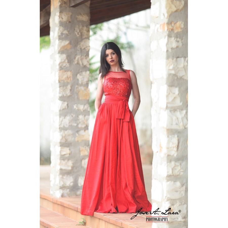 Vestido Fiesta Largo Mod: 9424