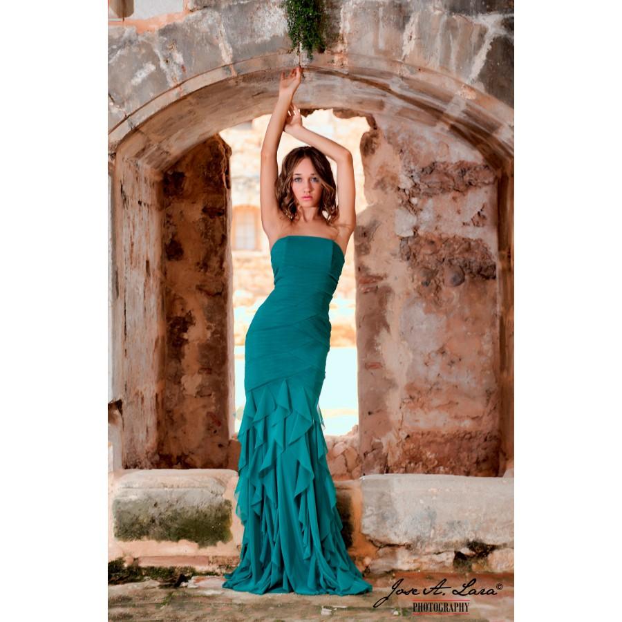 Vestido Fiesta Largo Mod: 30873-V
